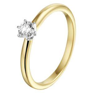Ring bicolor diamant 0.25 ct
