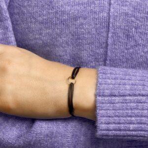 Armband satijn rondje