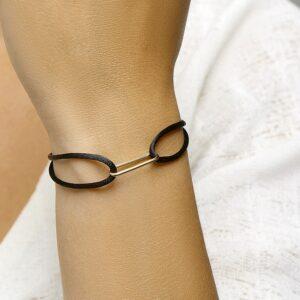 Armband satijn schakel