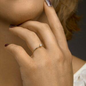Ring bicolor diamant 0.10 ct