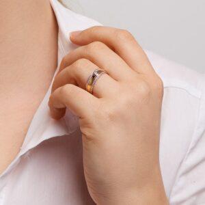 Ring bicolor diamant