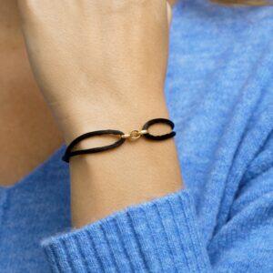 Armband satijn schakels