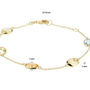 Armband edelstenen verstelbaar