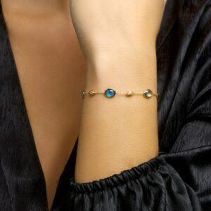 Armband edelsteen verstelbaar