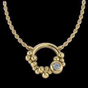 Collier rondje Dots & Diamonds