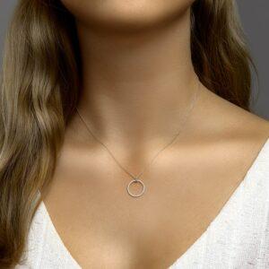 Collier diamant 0.14ct verstelbaar