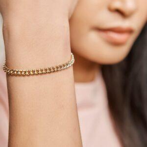 Armband grove schakels 18,5 cm
