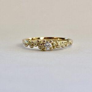 Ring dots & diamonds 008 ct