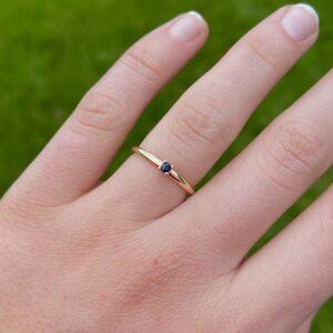 Birthstone Ring Open
