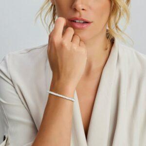 Armband parel 4,0 mm 16 + 3 cm